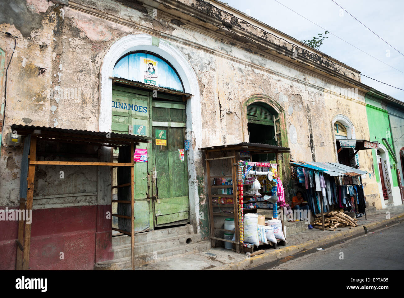 Streets of Granada, Nicaragua - Stock Image