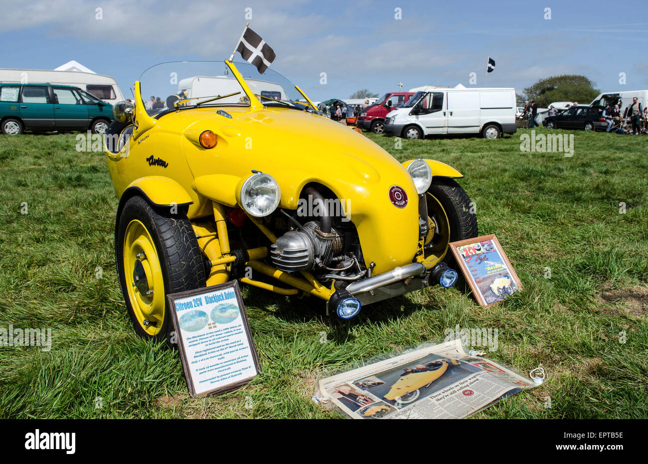 A Blackjack Avion kit car at a vintage vehicle rally in Cornwall, UK - Stock Image