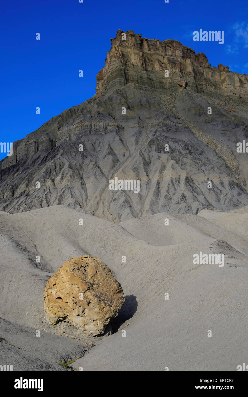 Factory Butte, San Rafael Swell, 'badlands' area of the the Upper Blue Hills, Utah USA - Stock Image