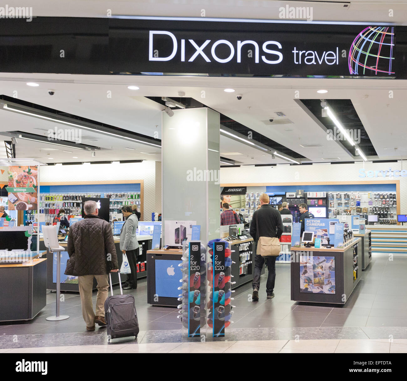 Dixons travel at Gatwick Airport in Britain Stock Photo