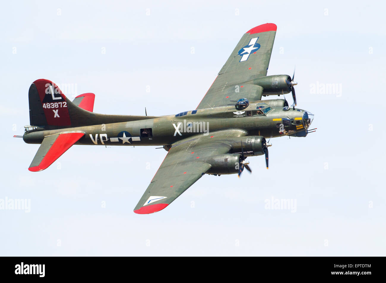 A Boeing B-17G-95-DL Flying Fortress/PB-1W in the Texas Raiders air display Stock Photo