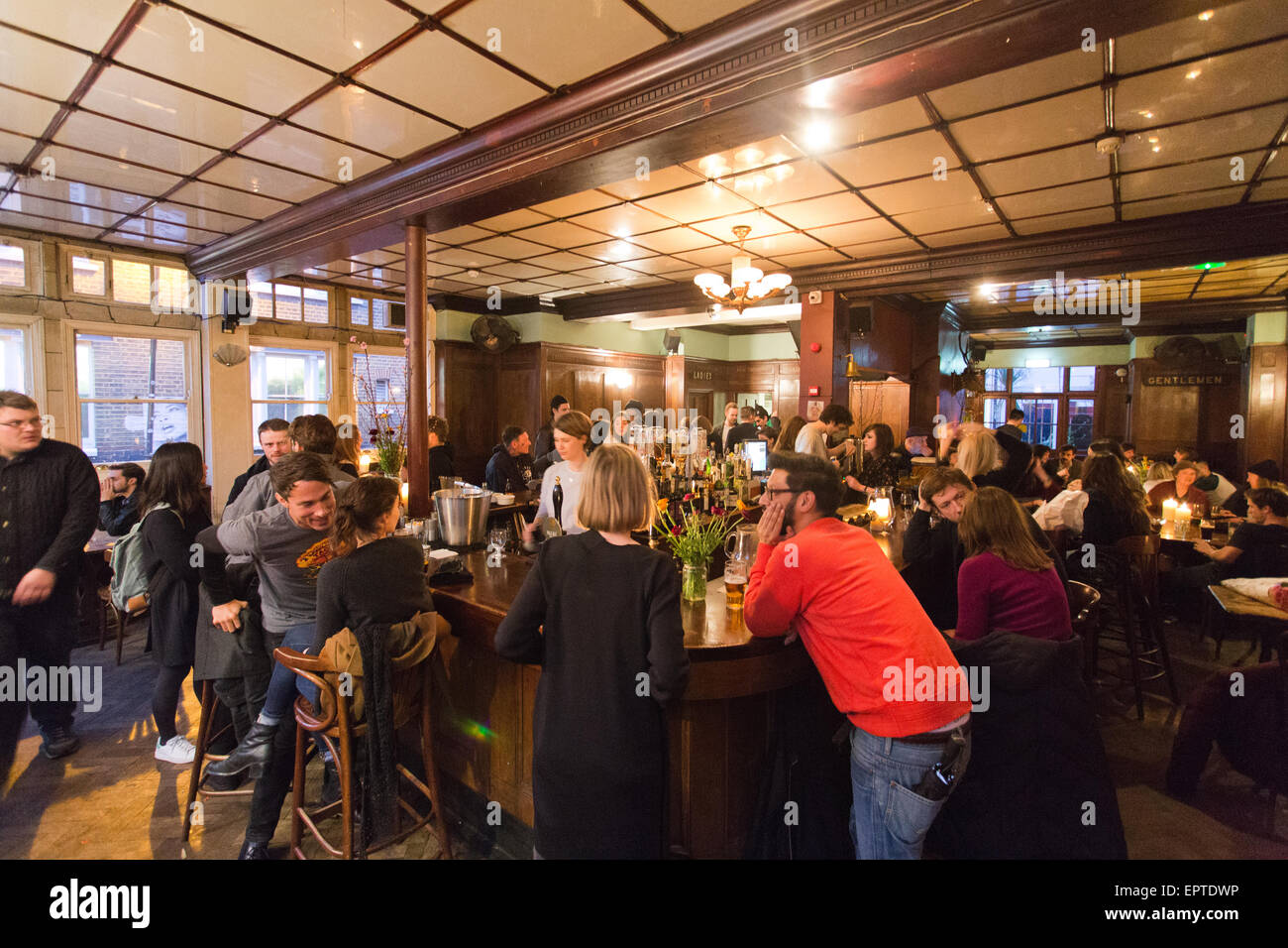 The Royal Oak pub in Columbia Road London Britain Stock Photo