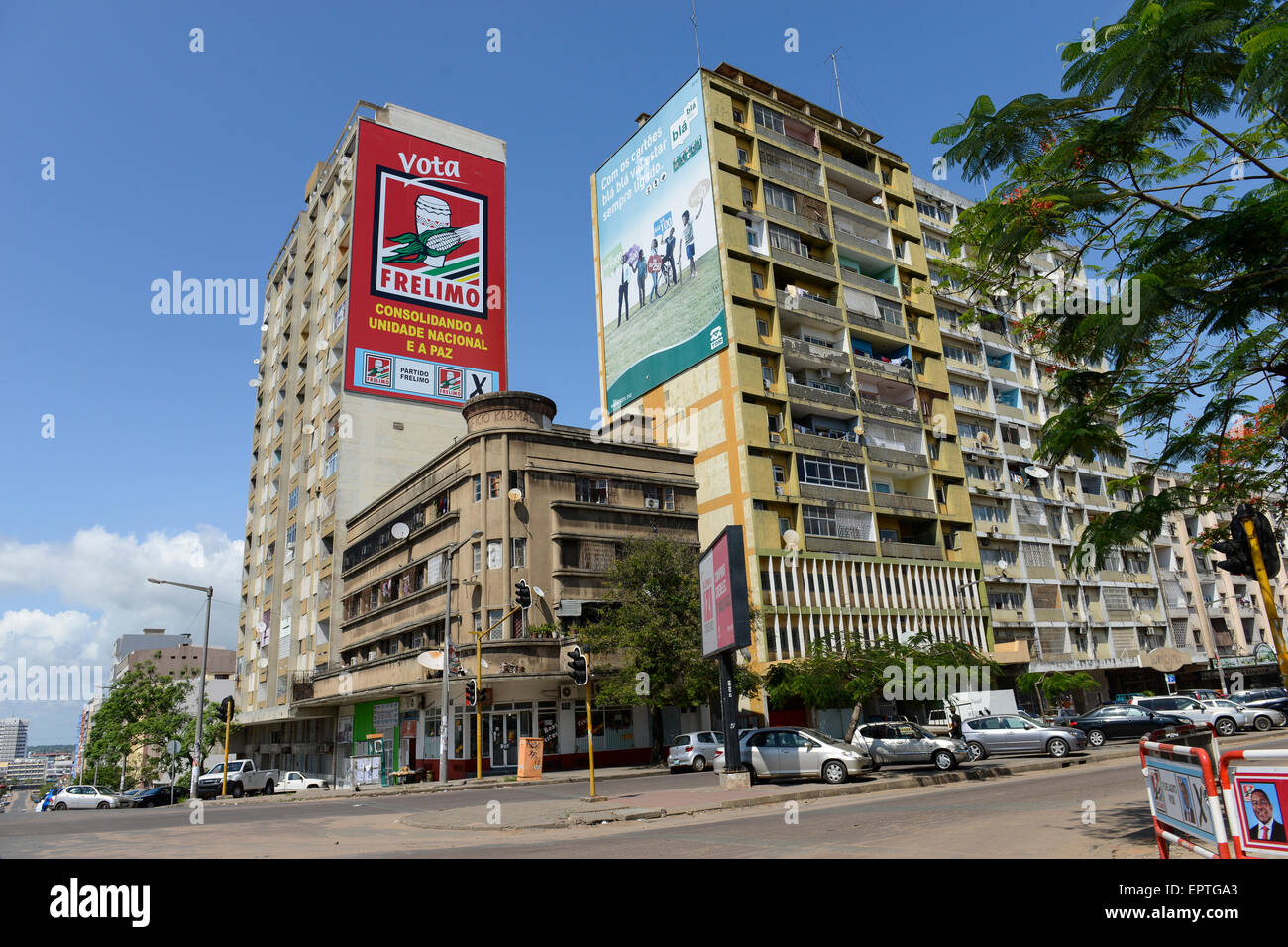 MOZAMBIQUE, Maputo, election poster for FRELIMO party , FRELIMO is the former movement for independance and today - Stock Image