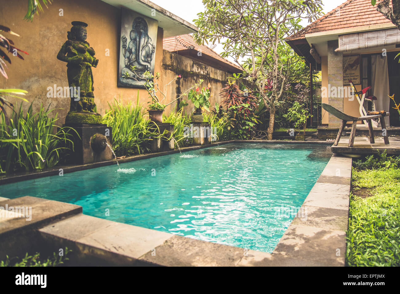 A Small Private Swimming Pool In A Home In Bali Indonesia Editorial Stock Photo Alamy