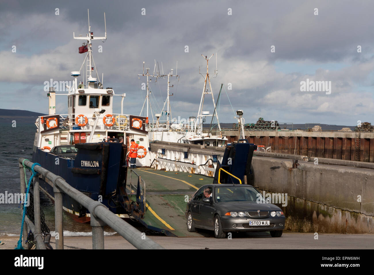 Ferry to Rousay - Stock Image