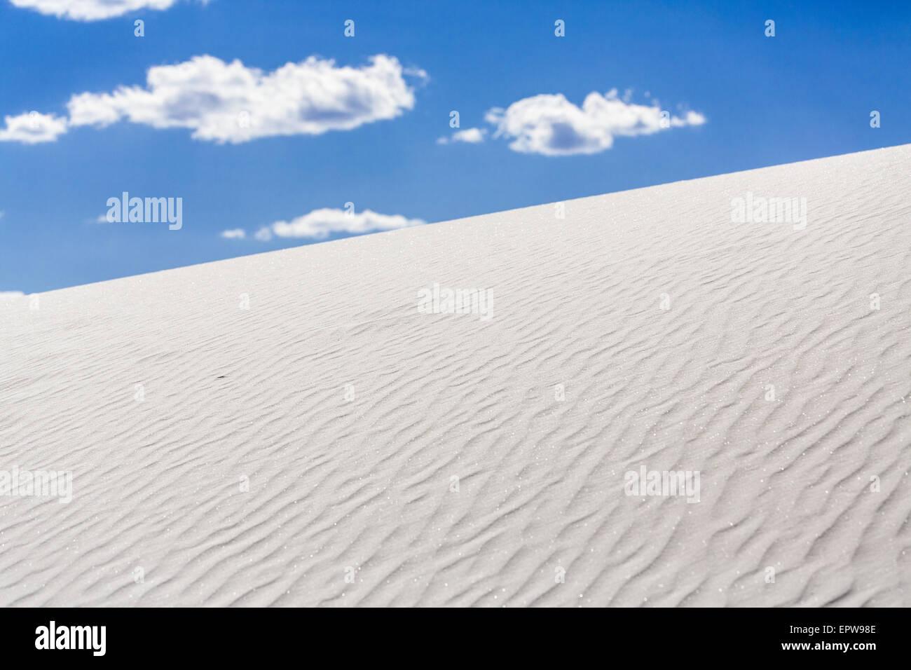 Sand dune, White Sands National Monument, Alamogordo, New Mexico, USA - Stock Image
