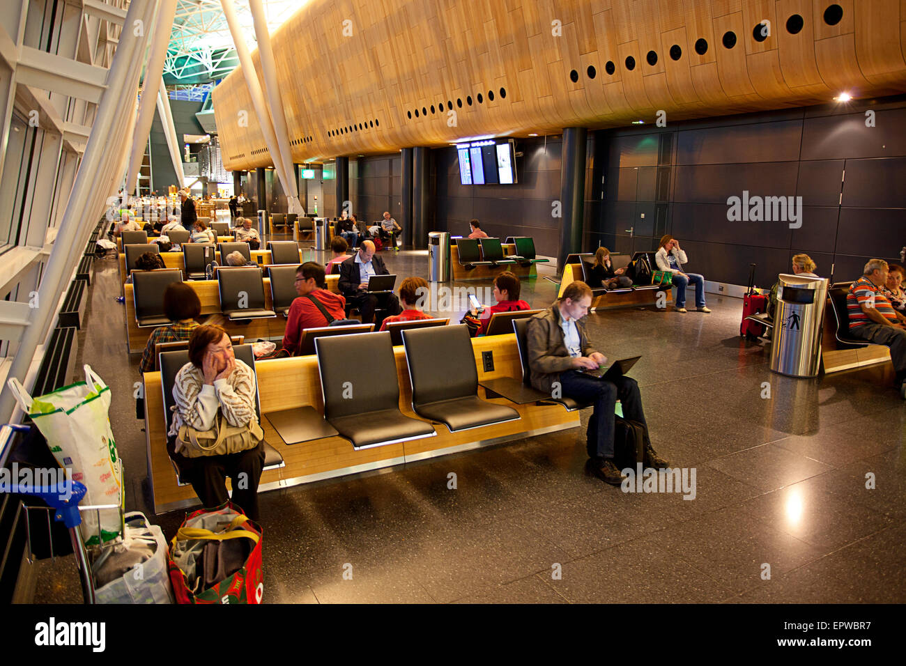 Waiting - Zürich Airport Flughafen, Zurich, Switzerland - Stock Image