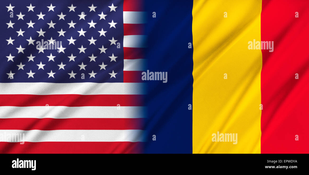 USA and Chad - Stock Image