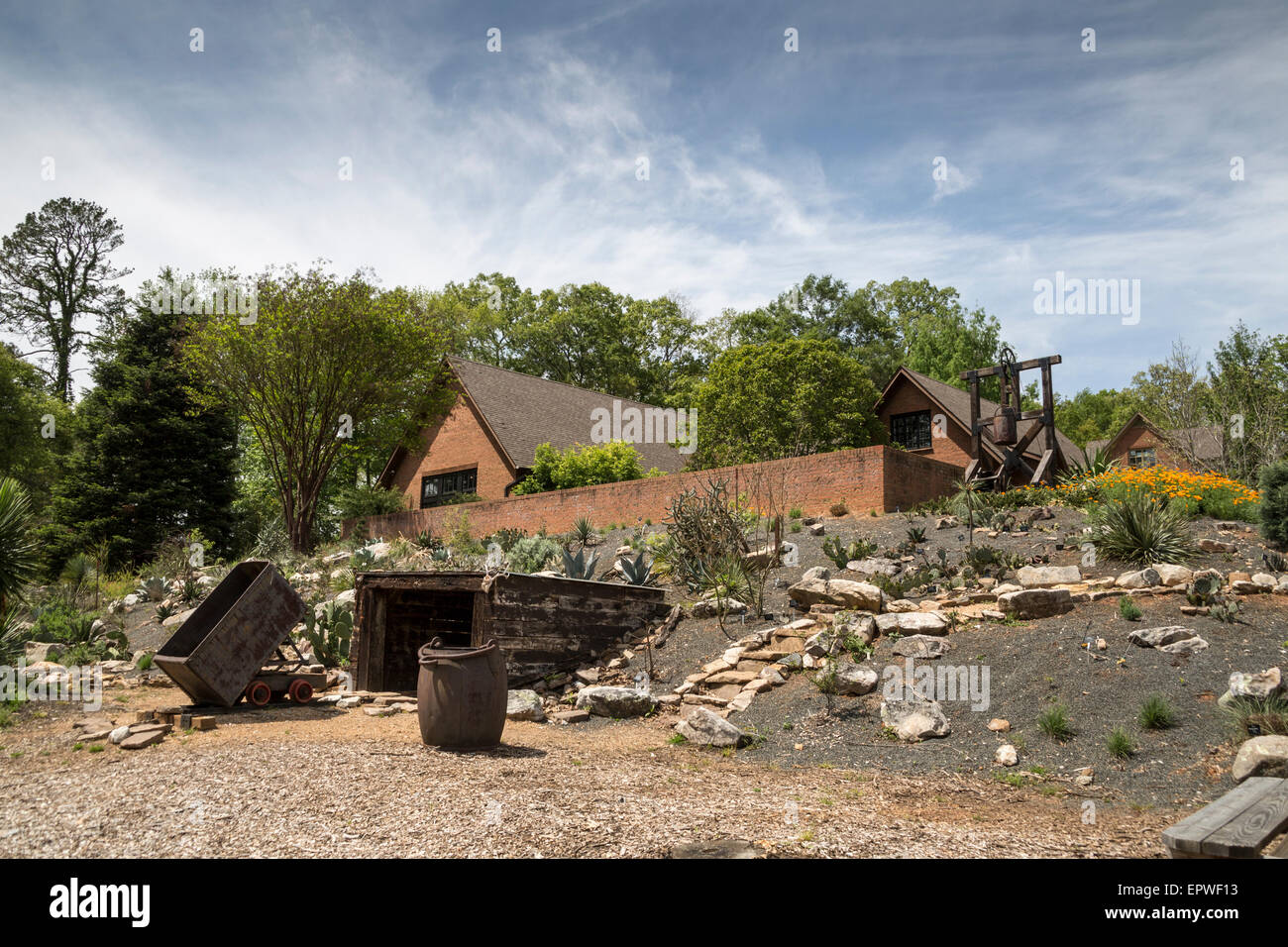 Replica mine, Bob Campbell Geology Museum, South Carolina Botanical ...