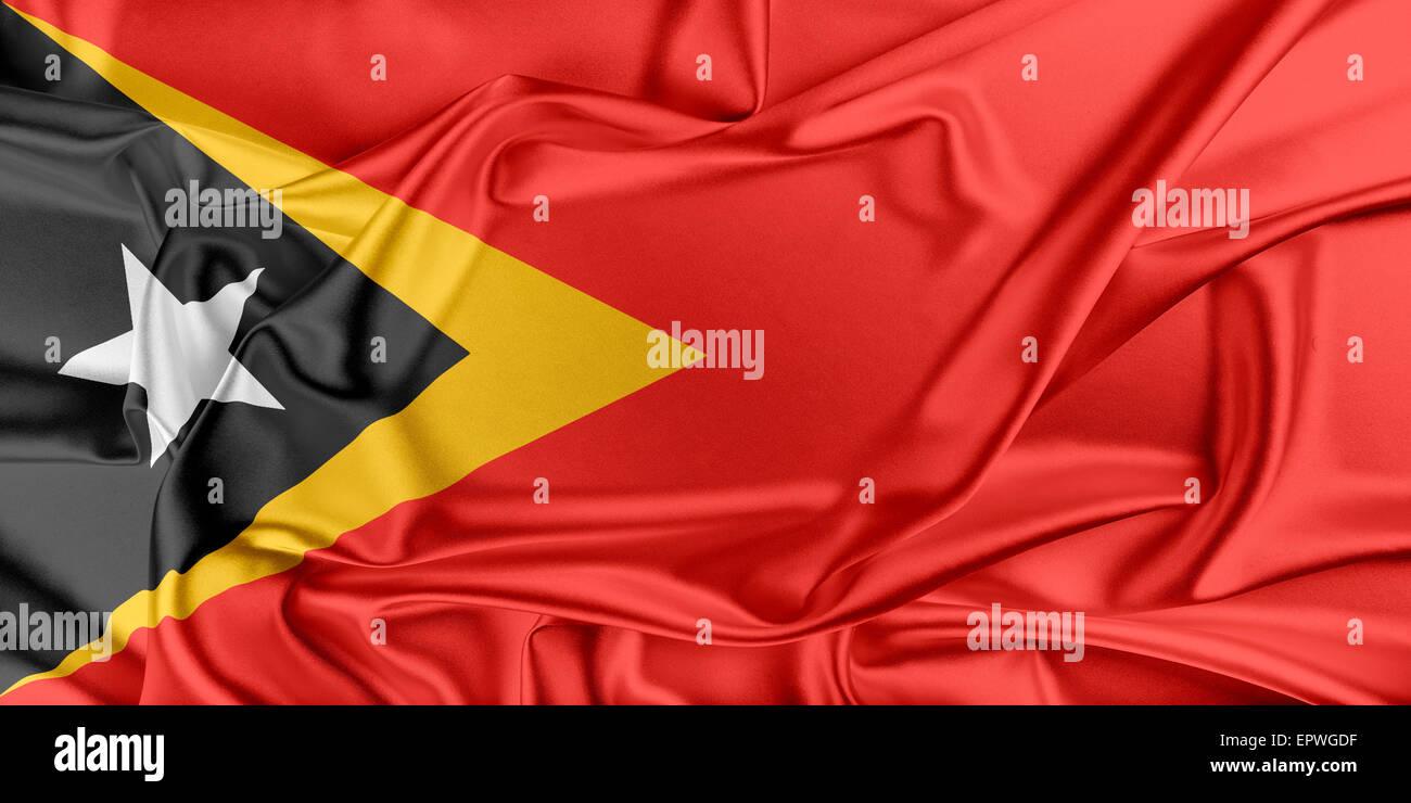 Flag of East Timor - Stock Image