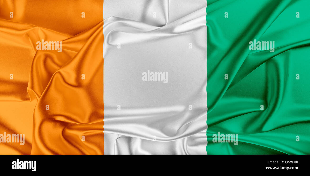 Flag of Cote d'Ivoire - Stock Image