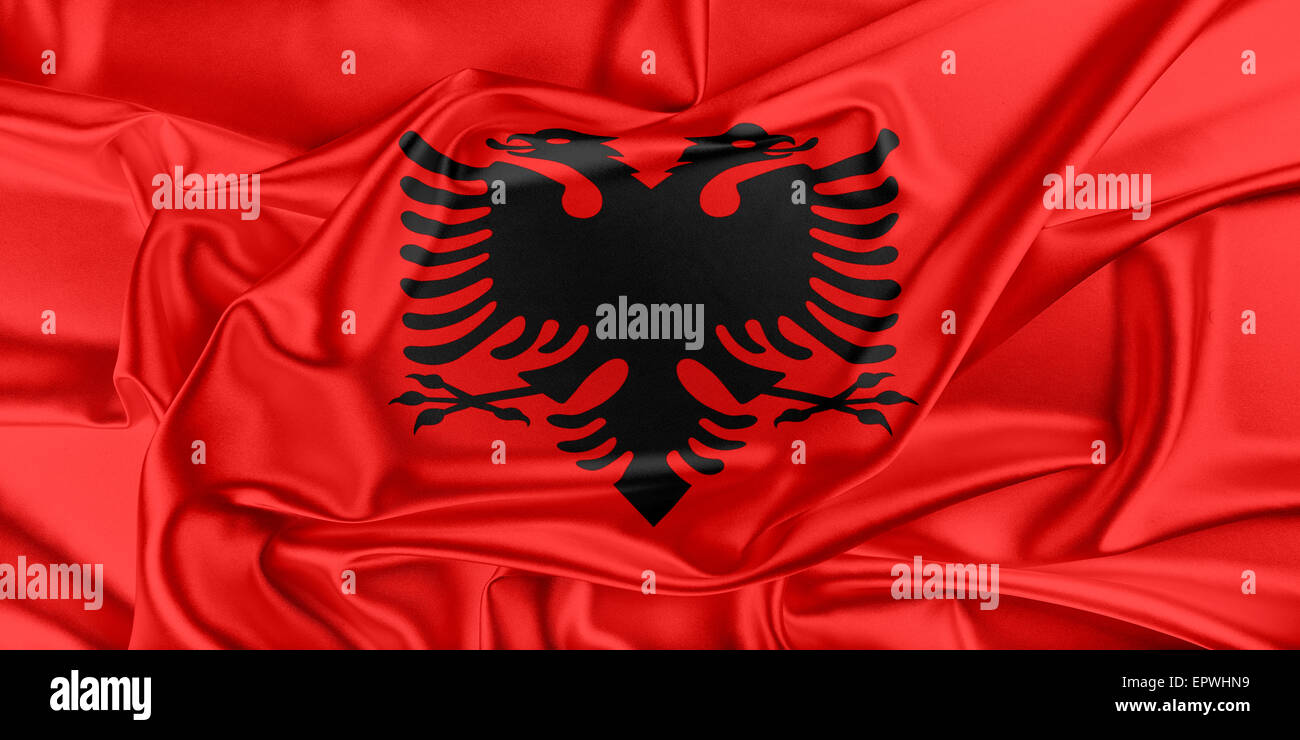 Flag of Albania - Stock Image