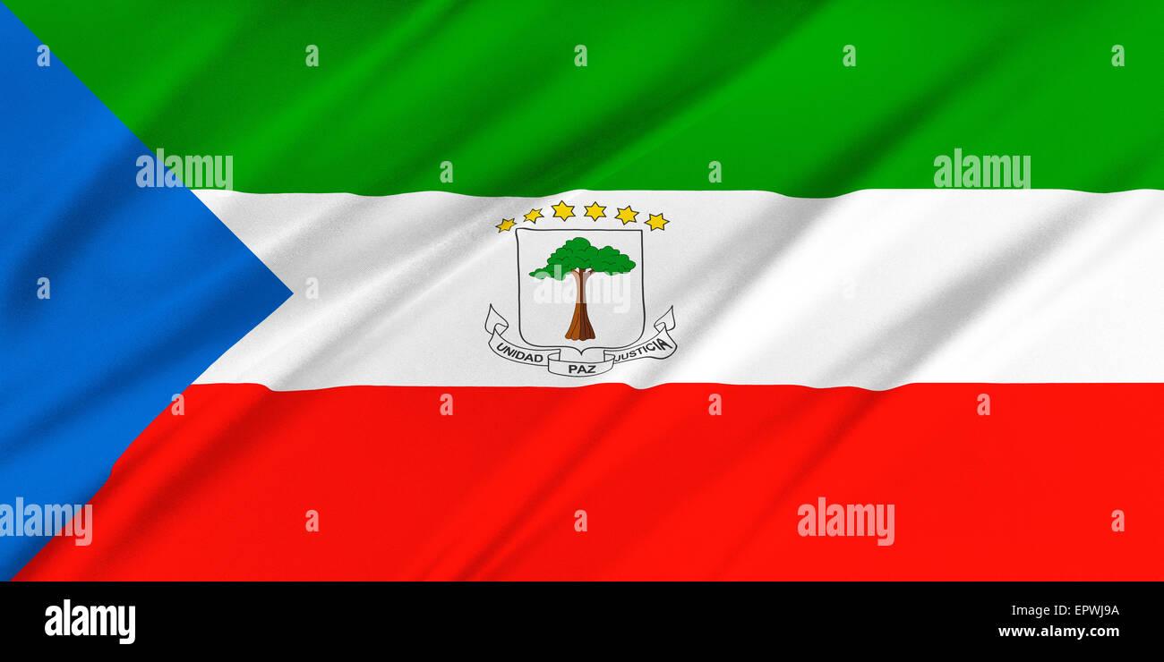 Flag of Equatorial Guinea - Stock Image