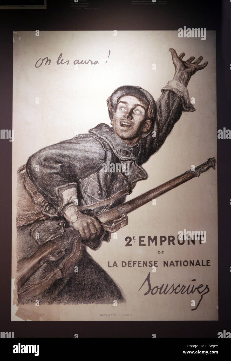 French army / military posters  from turn of the 19th century to first world war - Stock Image