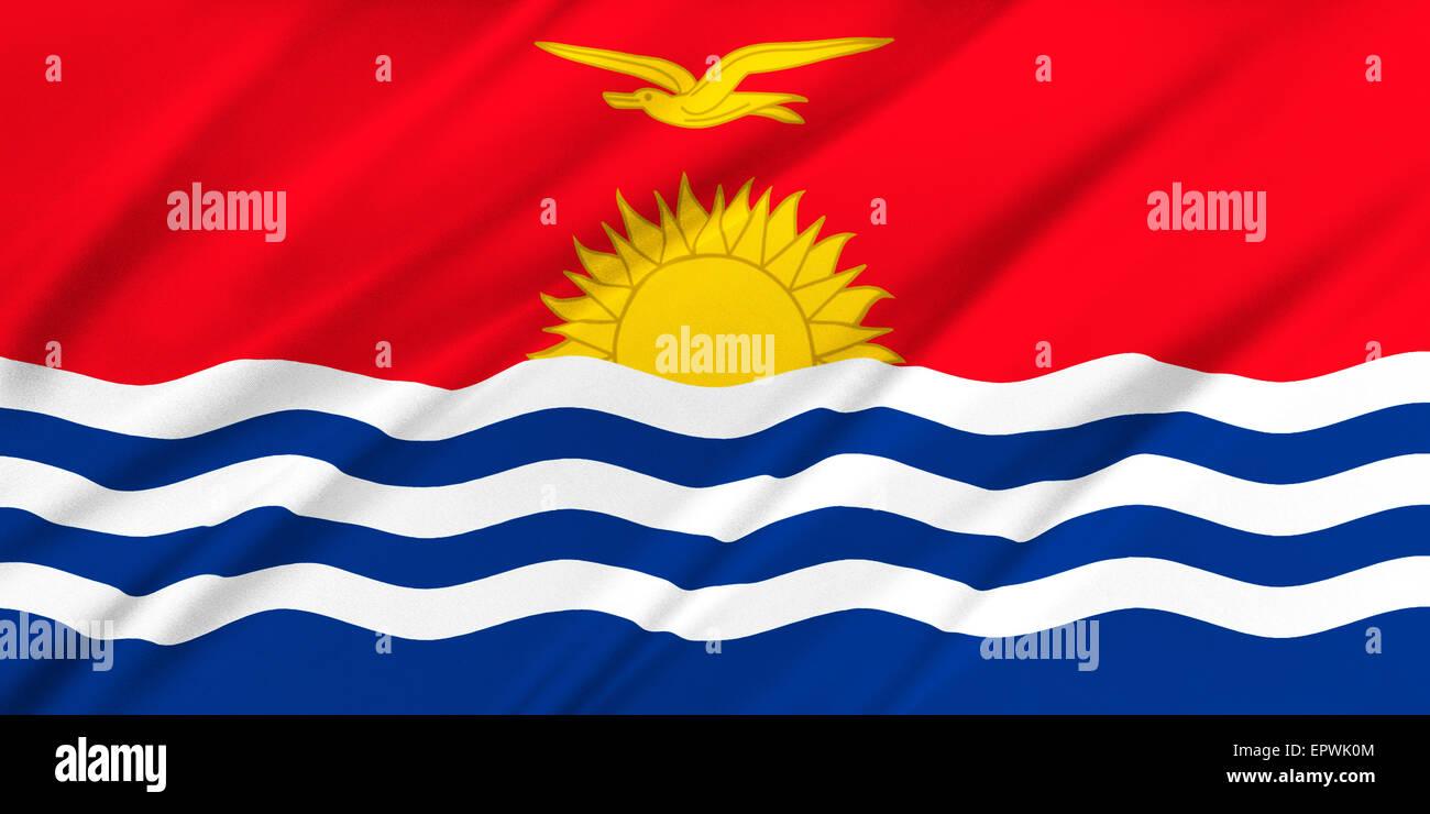 Flag of Kiribati - Stock Image