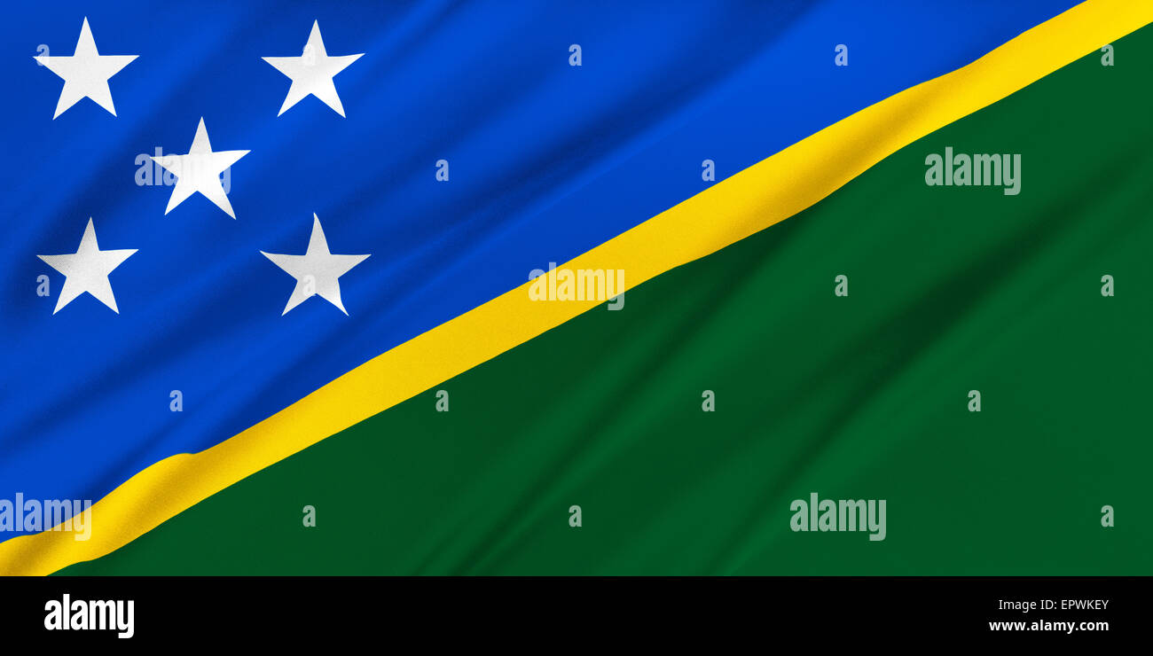 Flag of Solomon Islands - Stock Image