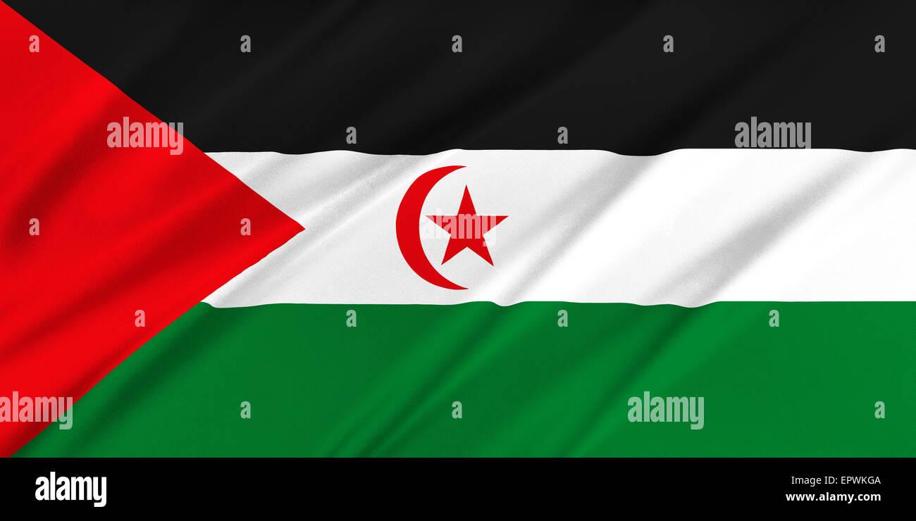 Flag of Western Sahara Stock Photo