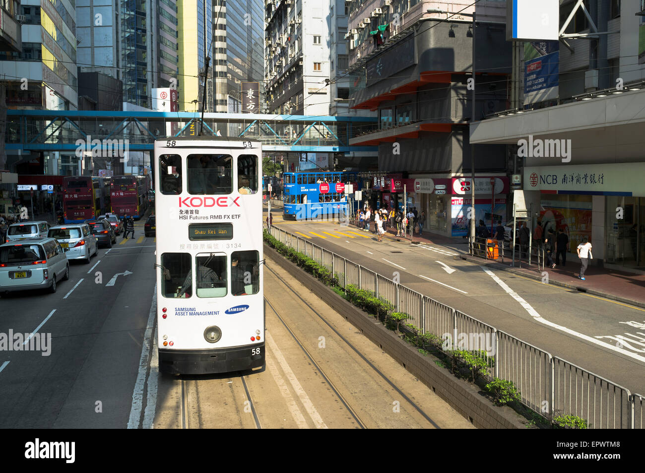 dh Hennessey Road CAUSEWAY BAY HONG KONG New tram Hong Kong road public transport - Stock Image