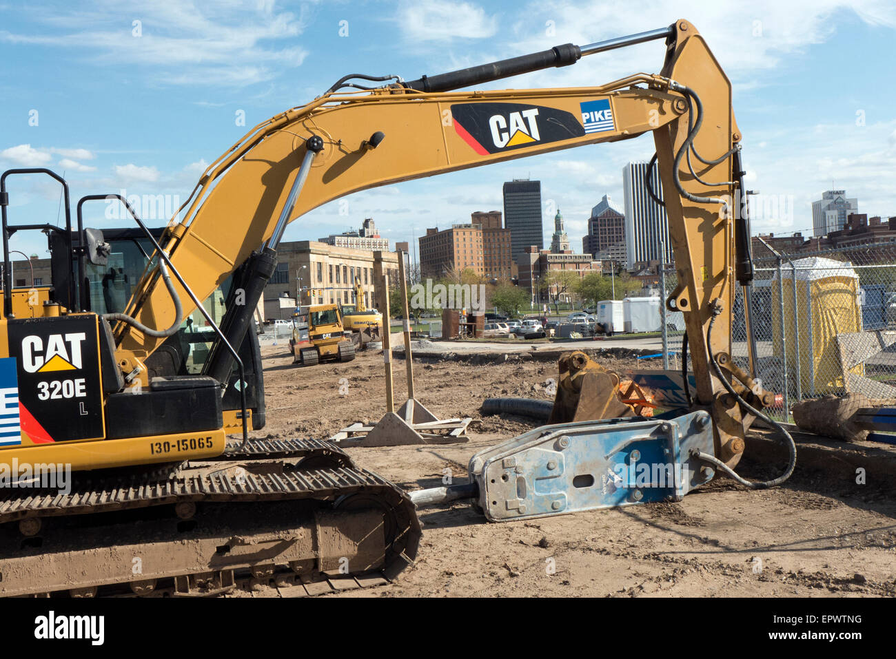 Urban renewal in downtown Rochester NY. - Stock Image