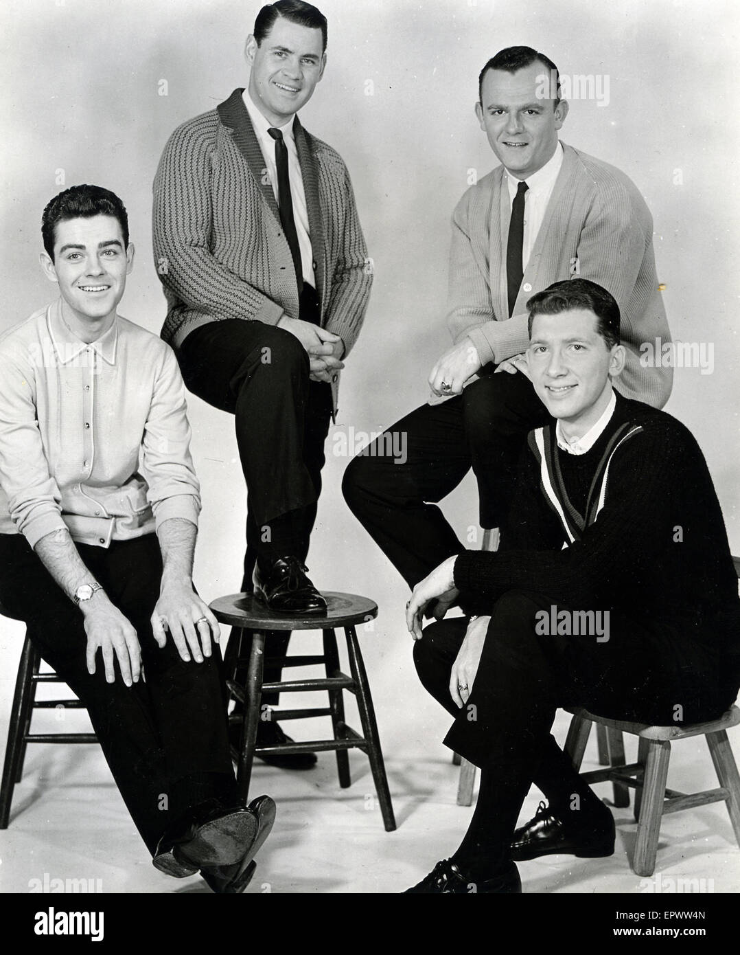 FOUR SAINTS US vocal group about 1962 - Stock Image