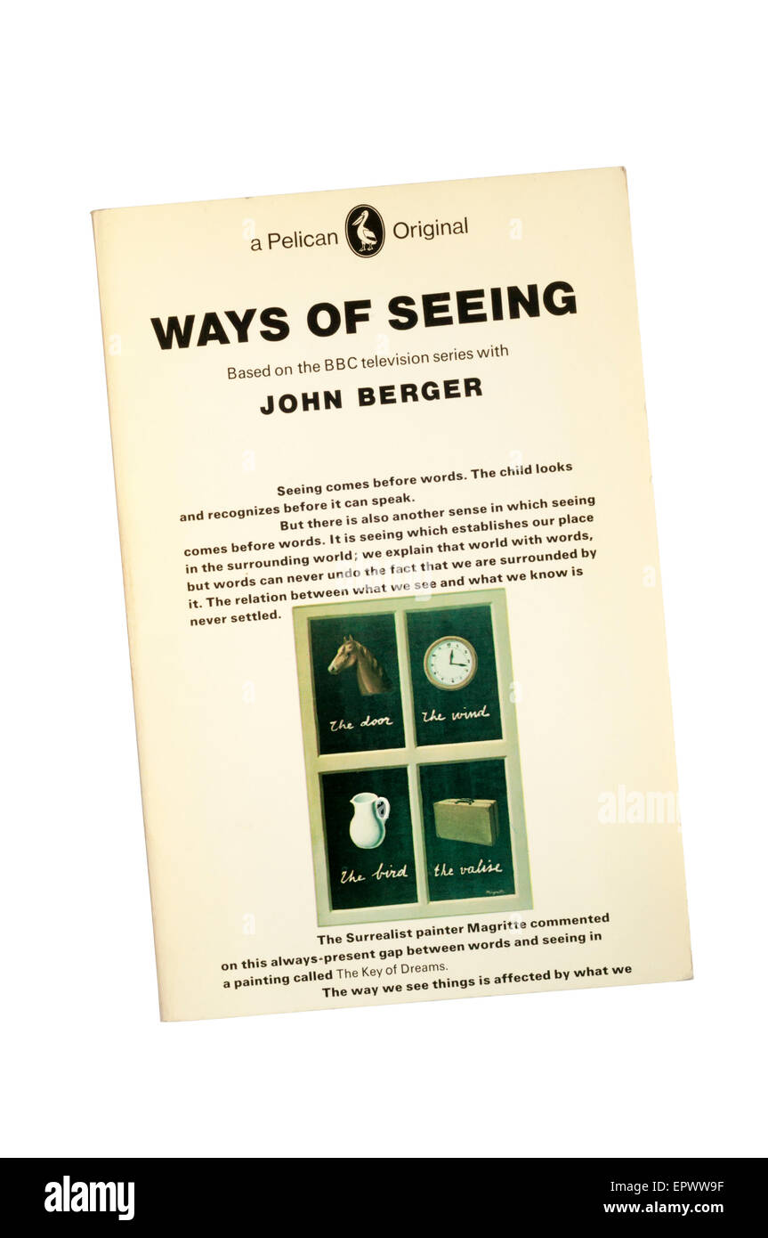 A paperback copy of Ways of Seeing by John Berger.  Cover design by Richard  Hollis. - Stock Image