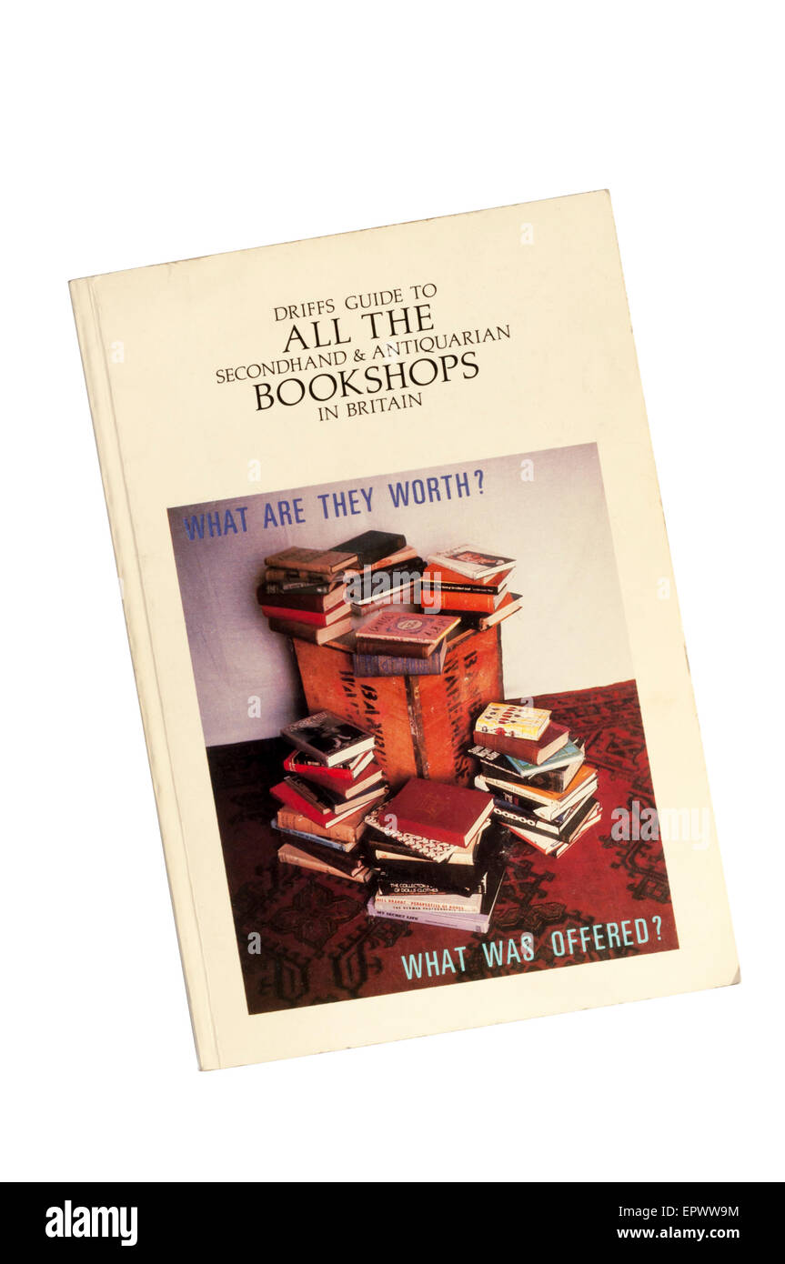 A copy of Driffs Guide to All The Secondhand & Antiquarian Bookshops in Britain. - Stock Image