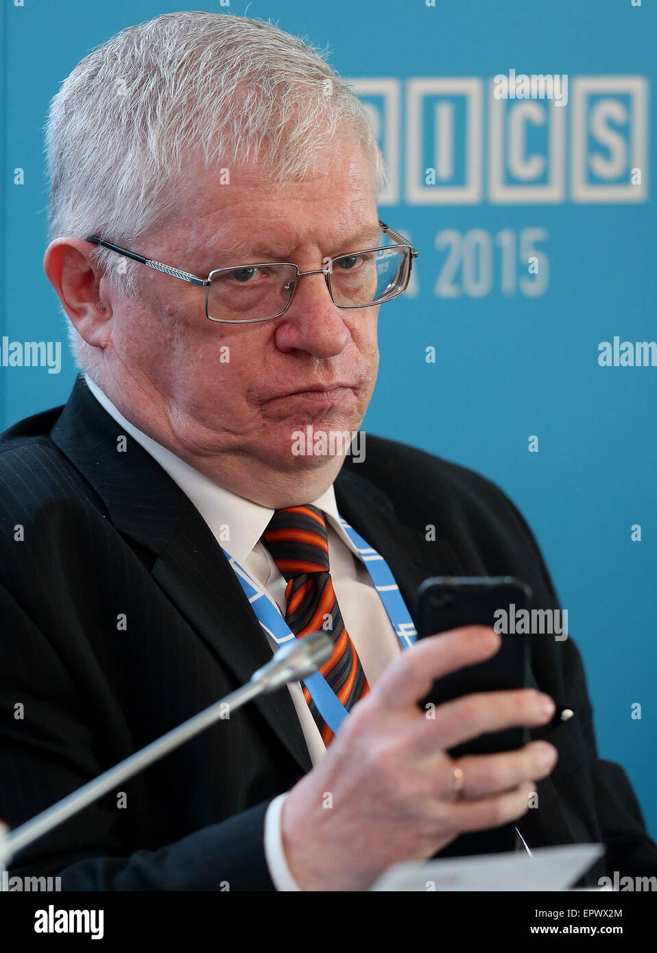 Moscow, Russia. 22nd May, 2015. Leonid Grigoryev, chief adviser to the chairman of the Analytical Center for the - Stock Image