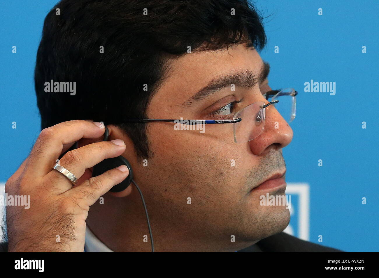 Moscow, Russia. 22nd May, 2015. Akshay Mathur, head of research at Gateway House Indian council on global Relations, - Stock Image