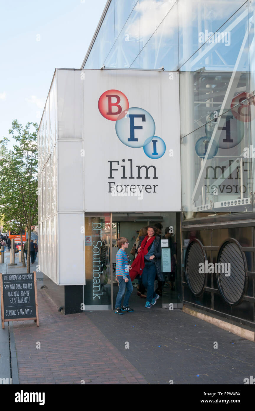 The British Film Institute on the South Bank in London - Stock Image