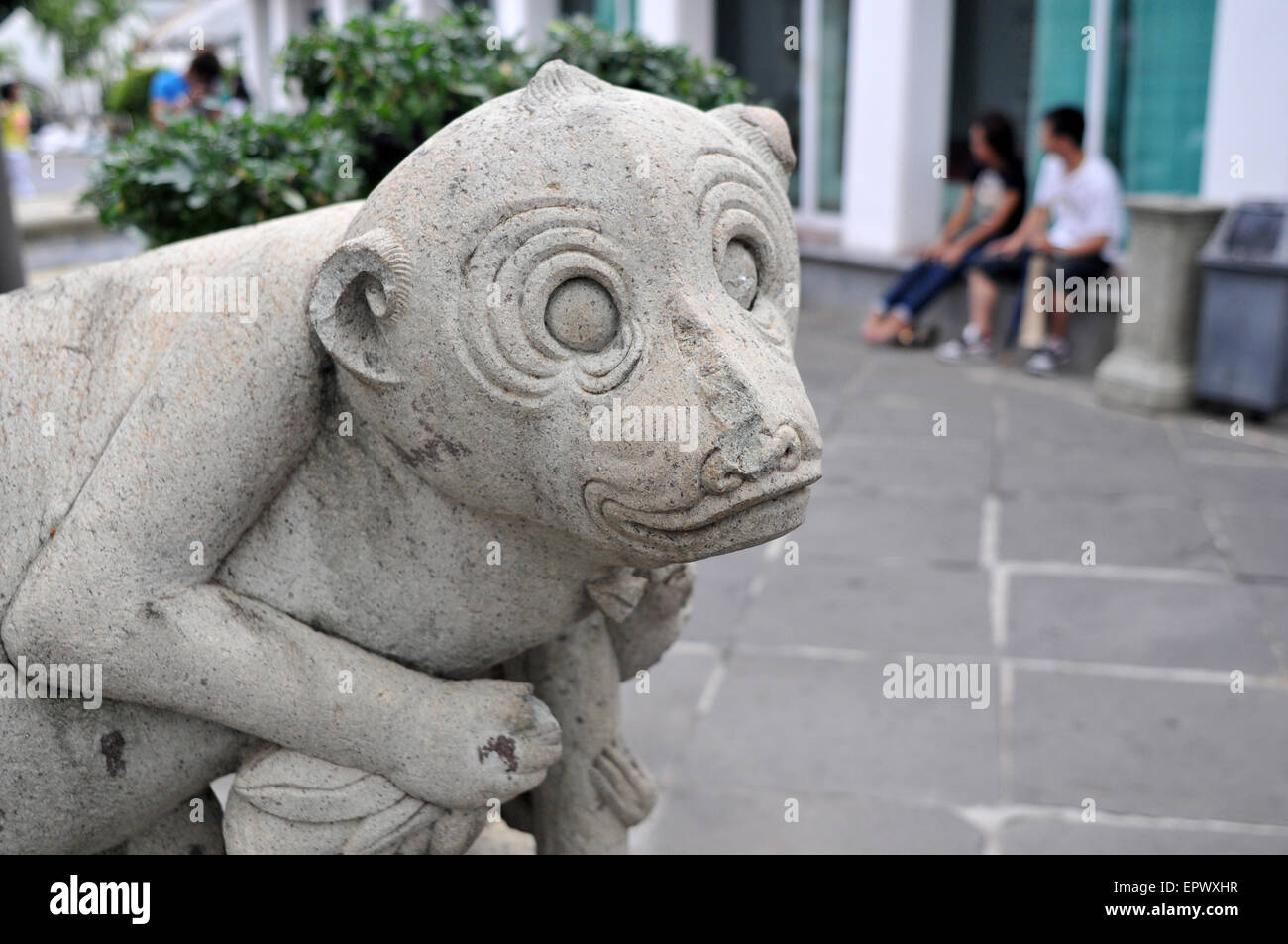 Statue at Wat Arum Temple in Bangkok, Thailand. - Stock Image