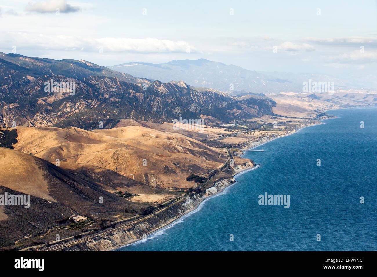 Santa Barbara, California, USA. 21st May, 2015. An aerial view of the Gaviota coast in Santa Barbara County, site - Stock Image