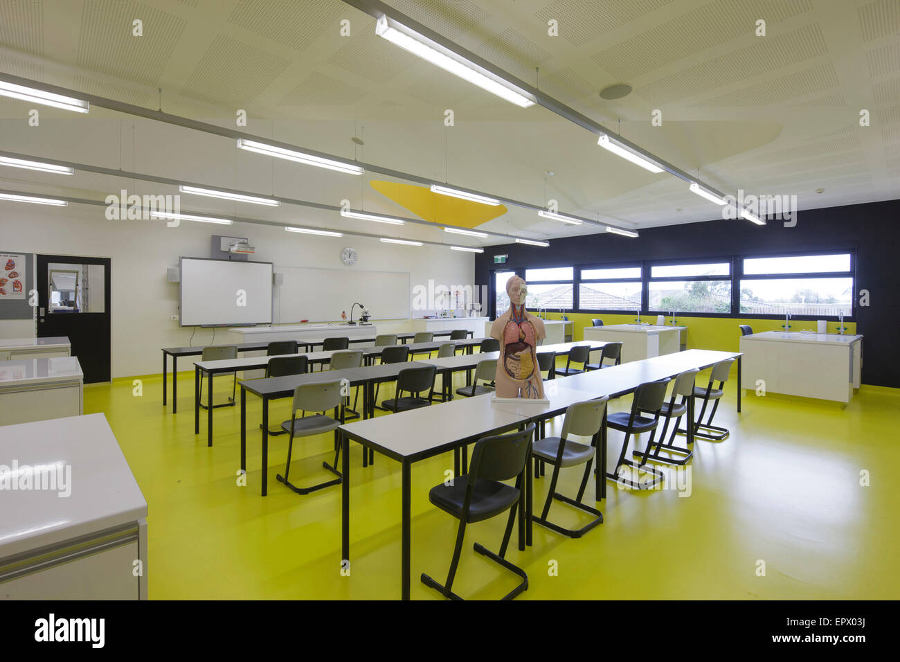 Classroom interior of Penleigh and Essendon Grammar School, Essendon, Melbourne, Australia. - Stock Image