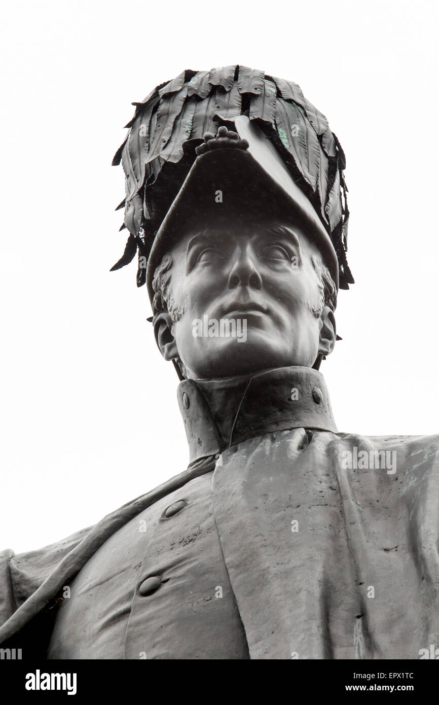 The Duke of Wellington Statue in Aldershot, Hampshire, United Kingdom - Stock Image