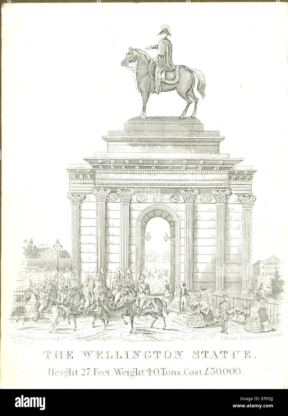 Engraved memento of the Wellington Statue - Stock Image