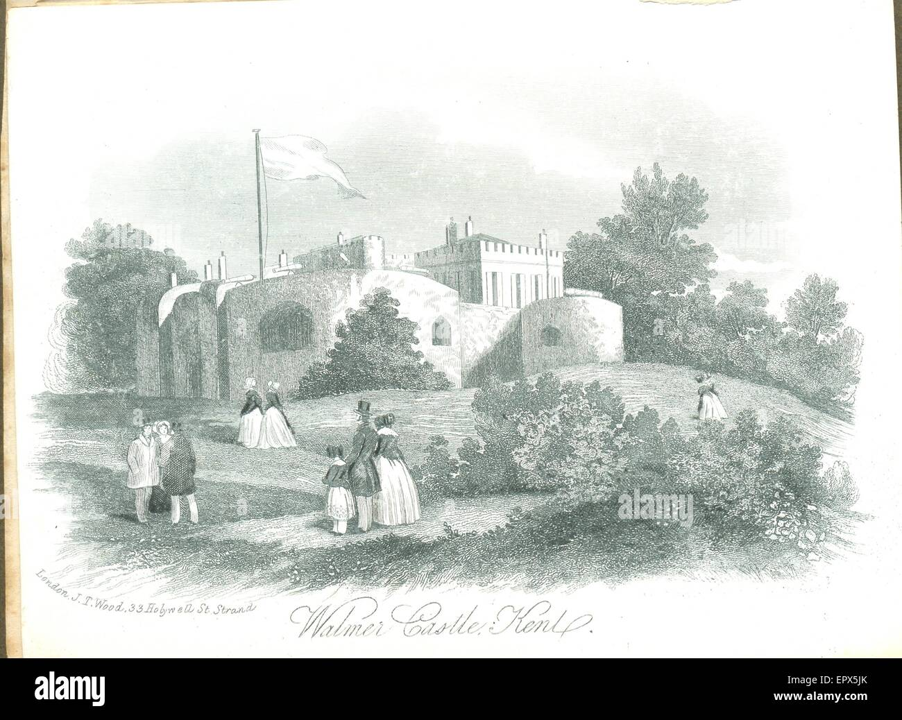Engraved memento of Walmer Castle - Stock Image