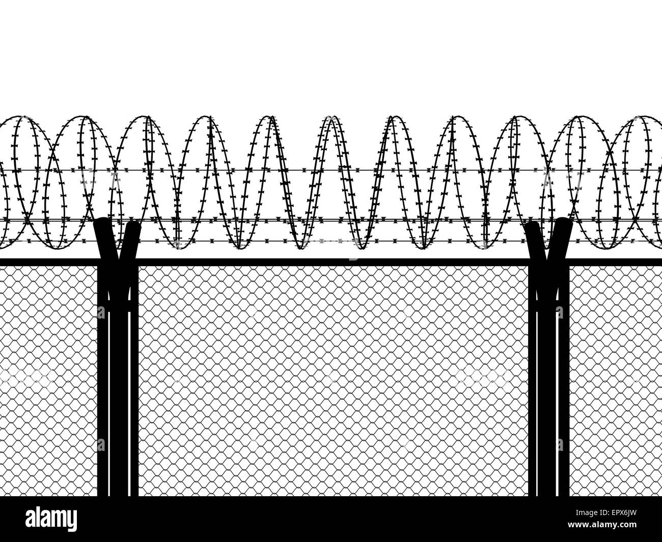 fence barbed wire silhouette illustration stock photos & fence barbed wire text fence with a barbed wire, silhouette illustration stock image