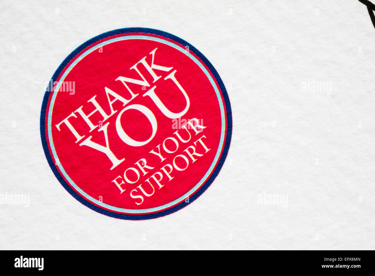 Thank You For Your Support Symbol On Help For Heroes Endorsed