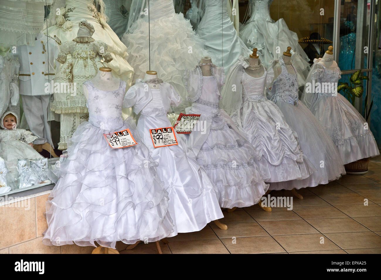 Los Angeles Wedding Gowns - Stock Image