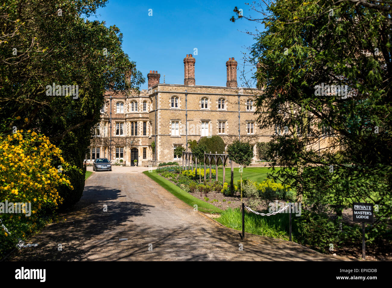 The Master's Lodge at Jesus College, a college of the University of Cambridge Stock Photo