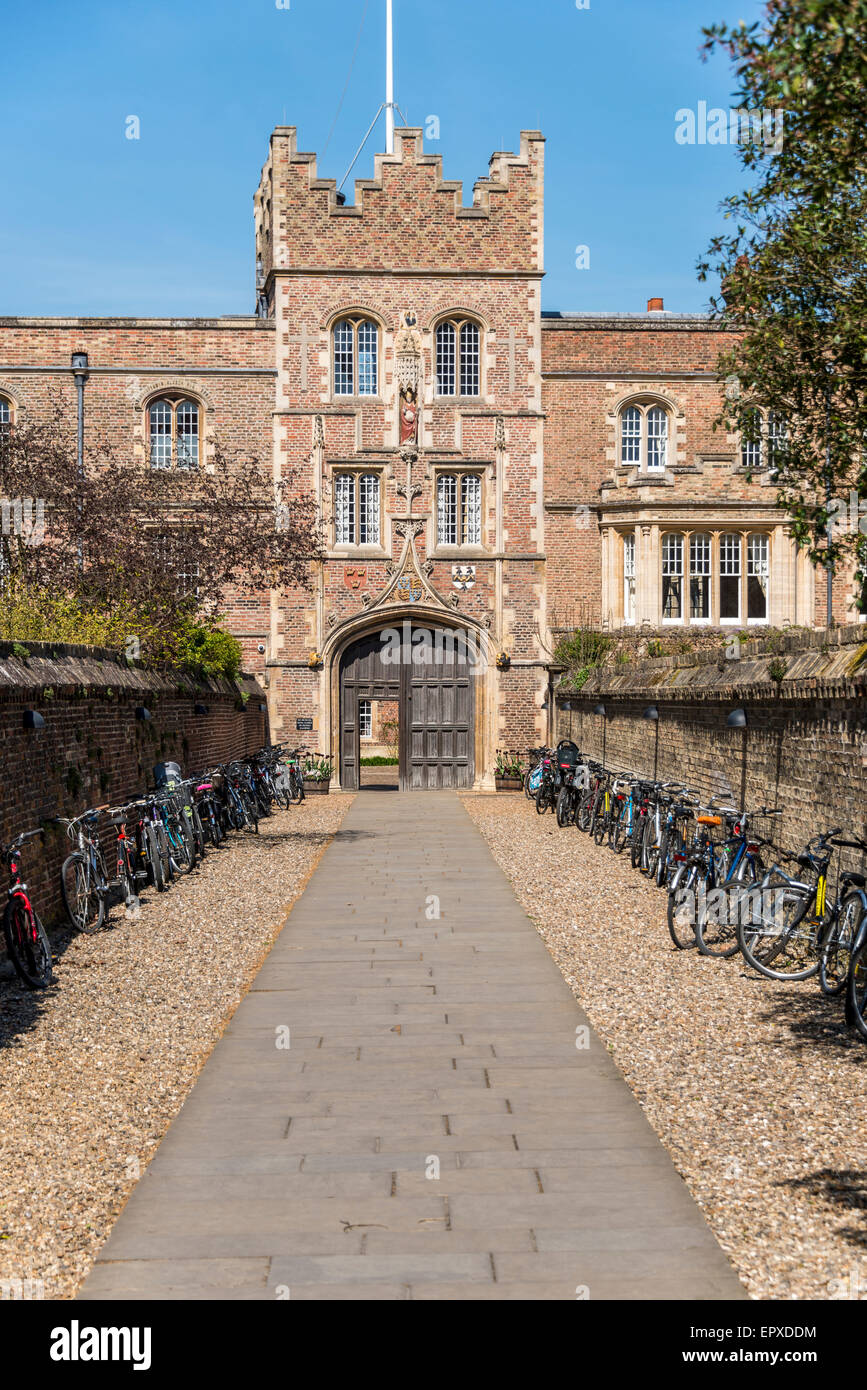 Jesus College is a college of the University of Cambridge - Stock Image