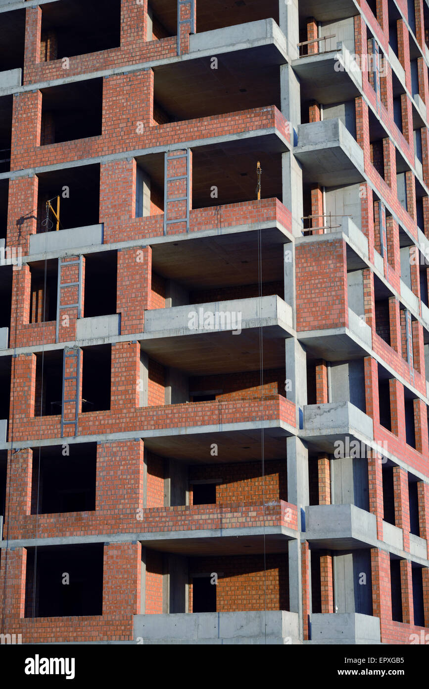 construction of a multistory building - Stock Image