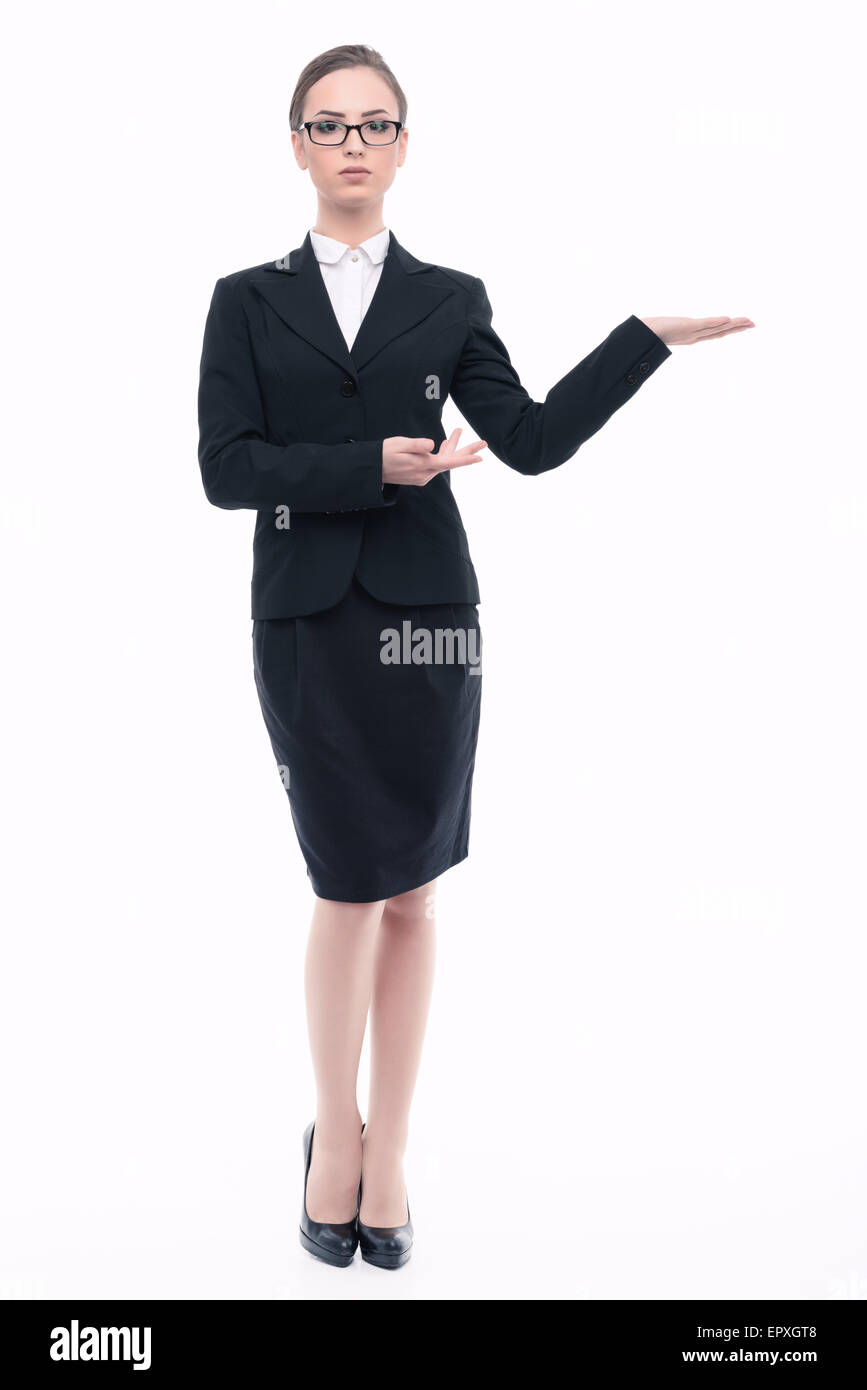 Beautiful woman in formal clothes - Stock Image