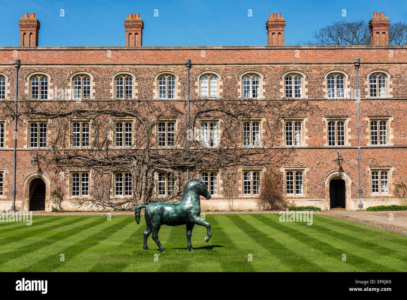 Jesus College is a college of the University of Cambridge Stock Photo