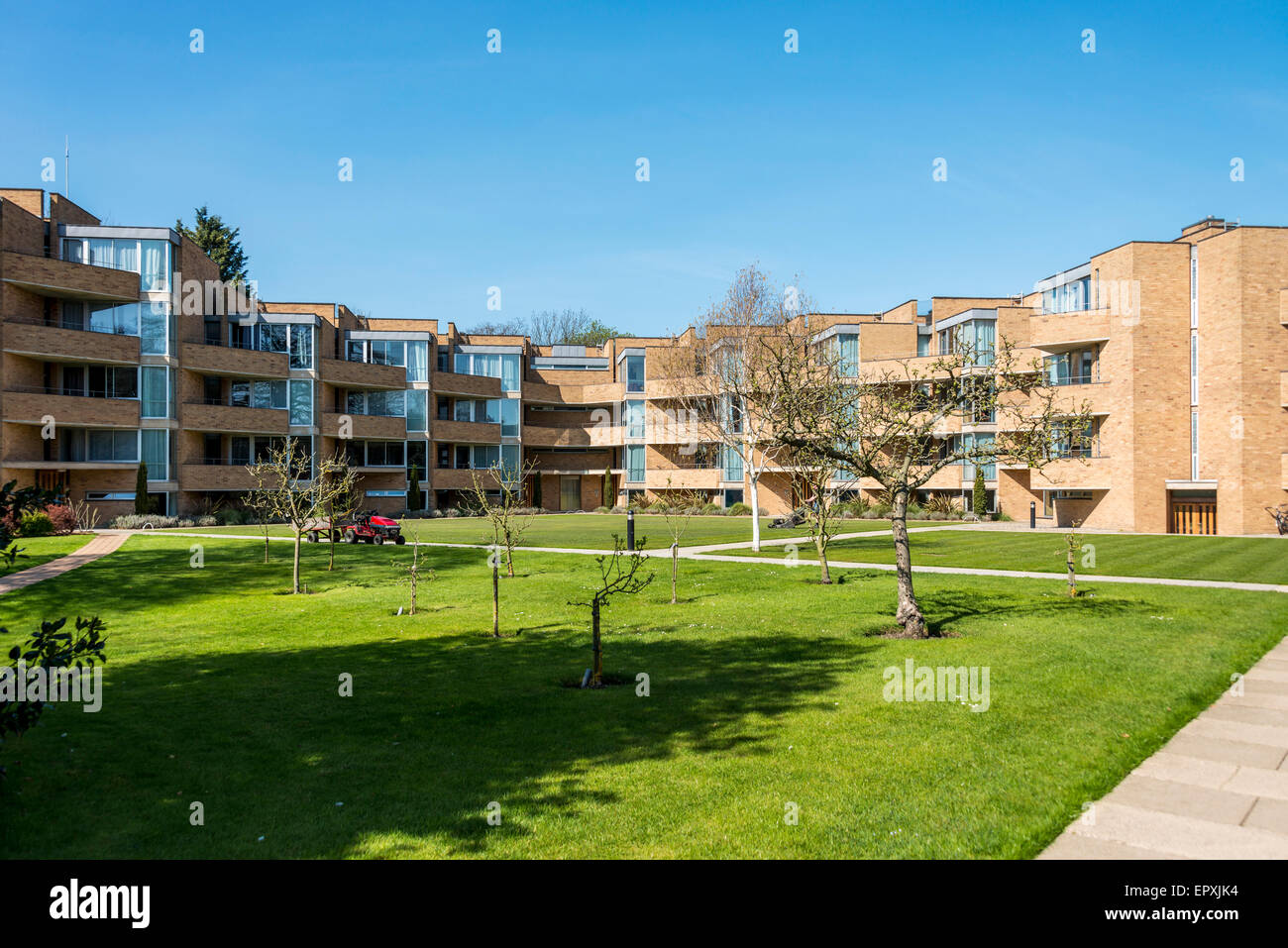 student accommodation at Jesus College, a college of the University of Cambridge - Stock Image