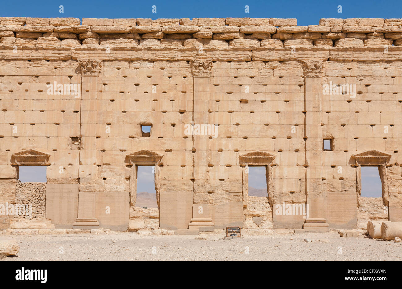 The outer wall of the temple courtyard - Stock Image