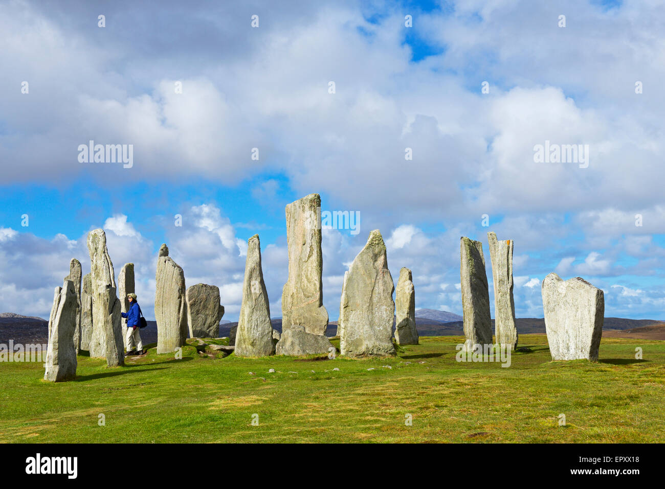 The Callanish Stones, Isle of Lewis, Outer Hebrides, Scotland UK - Stock Image
