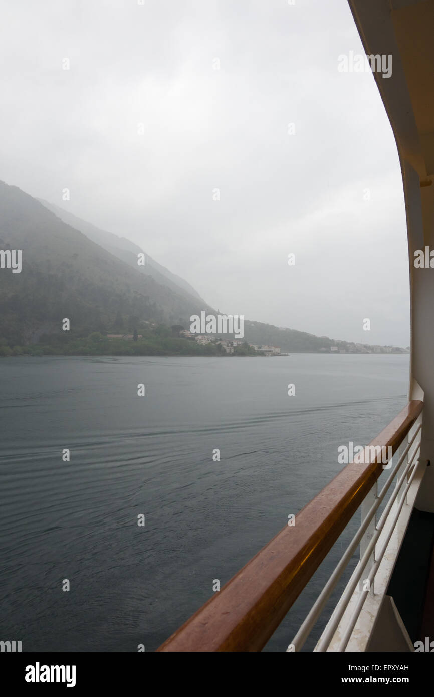 early morning shot of montenegro coast approach to kotor - Stock Image