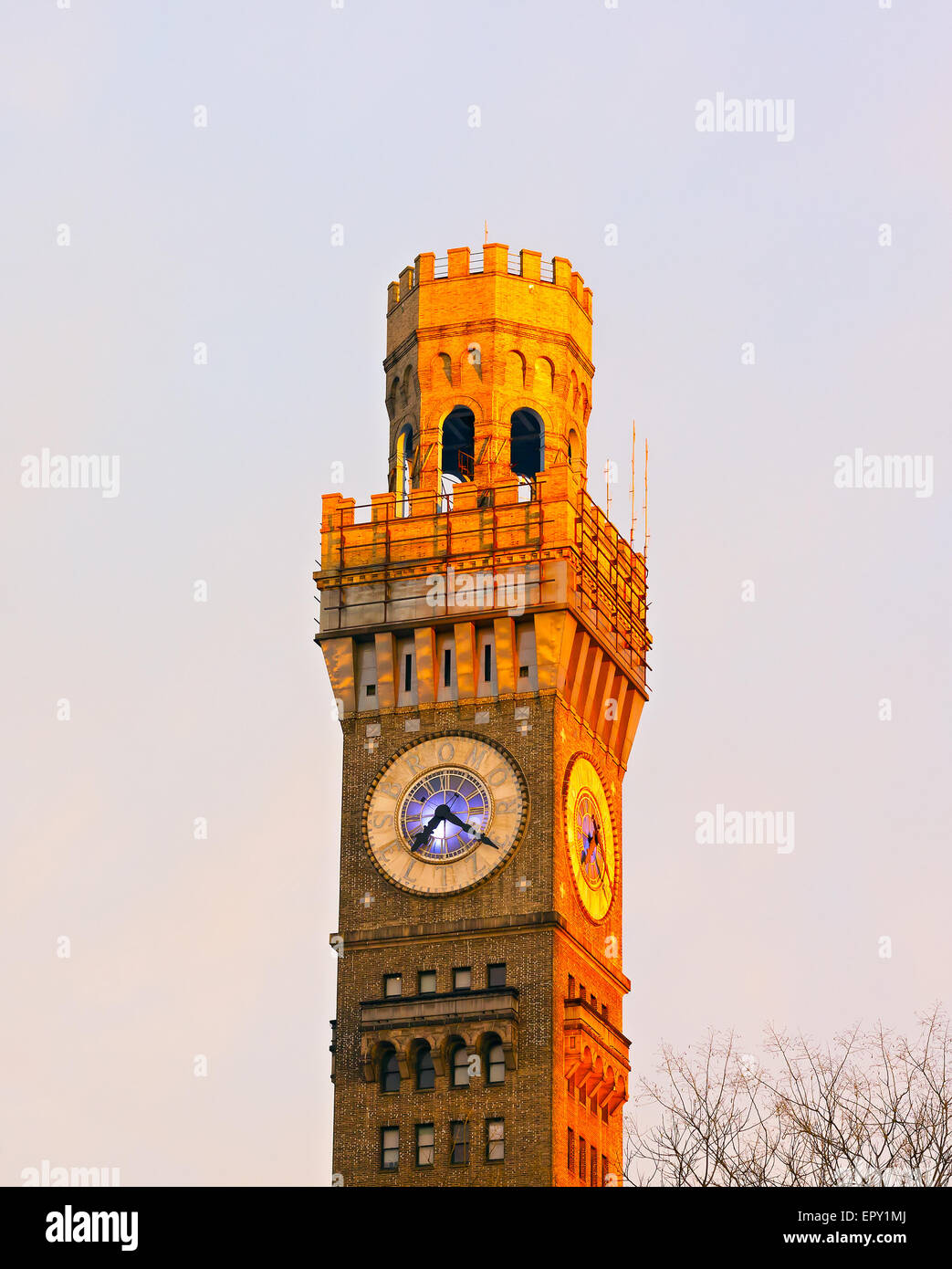 Emerson Bromo-Seltzer Tower in Baltimore downtown. - Stock Image