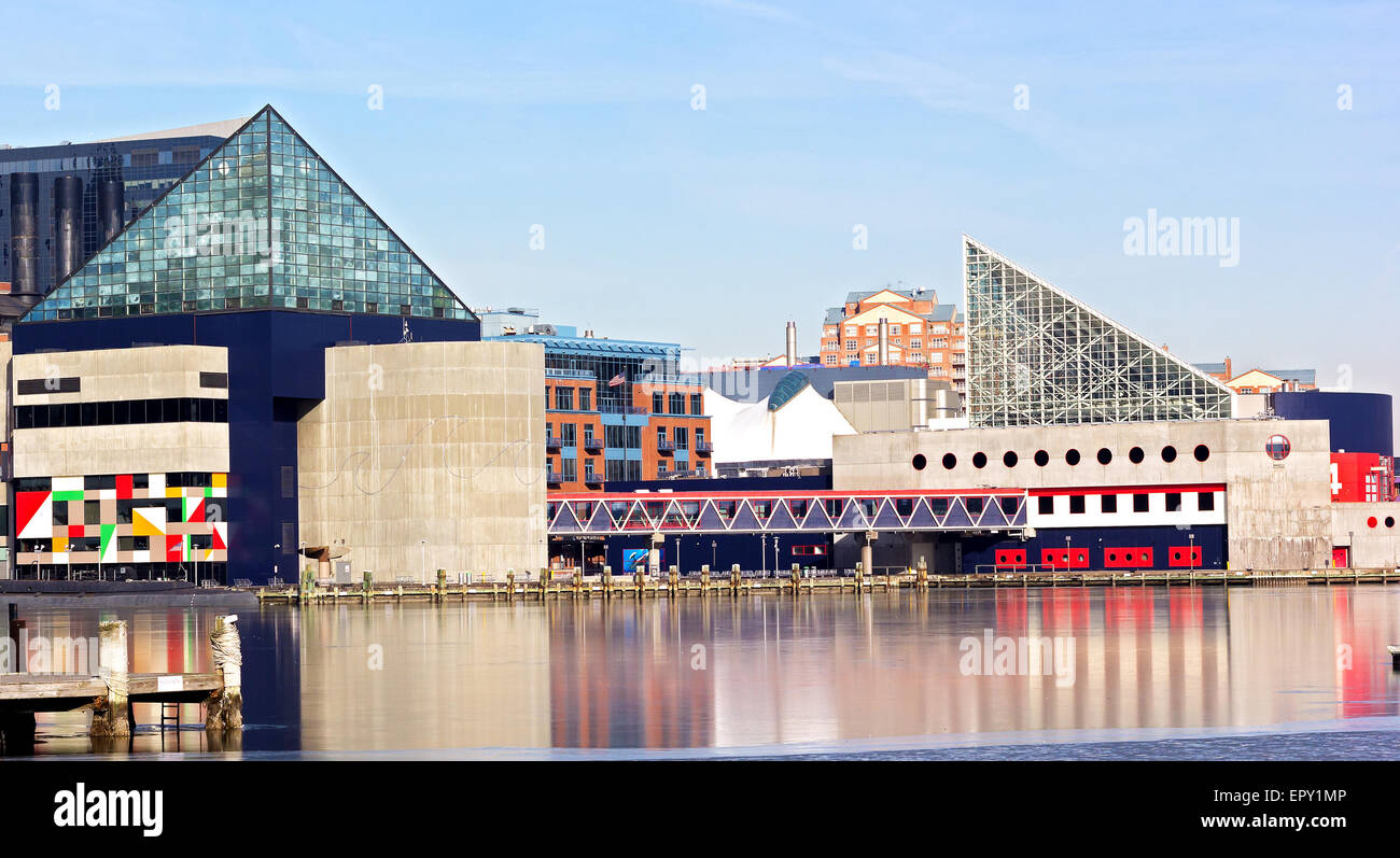 Baltimore National Aquarium. - Stock Image