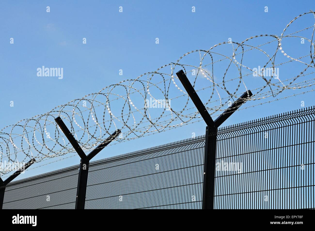 Coiled Barbed Wire Stock Photos & Coiled Barbed Wire Stock Images ...
